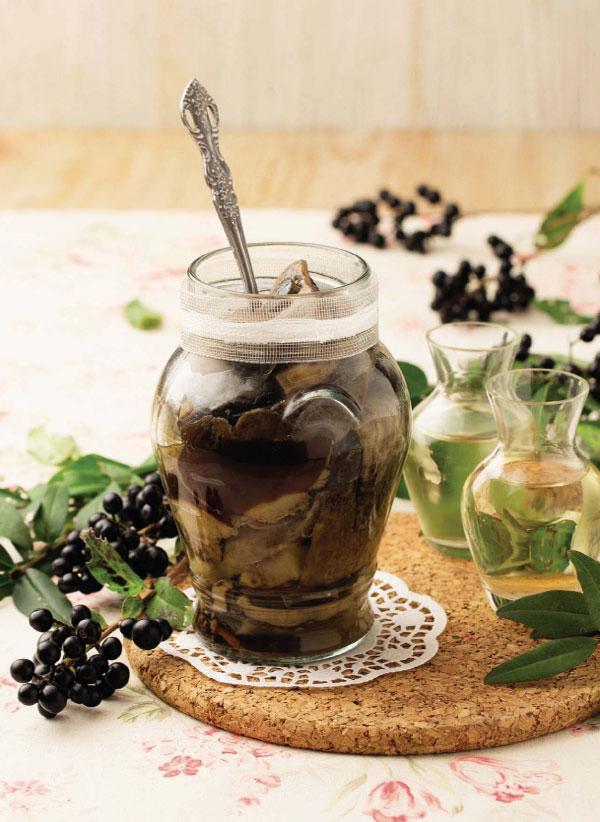 Рецепты карпатской кухни. Маринованные грибы с белым вином